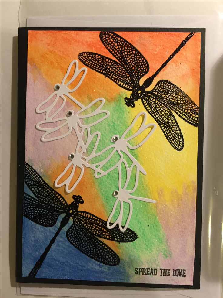 Beautiful water colour Dragonfly Dreams
