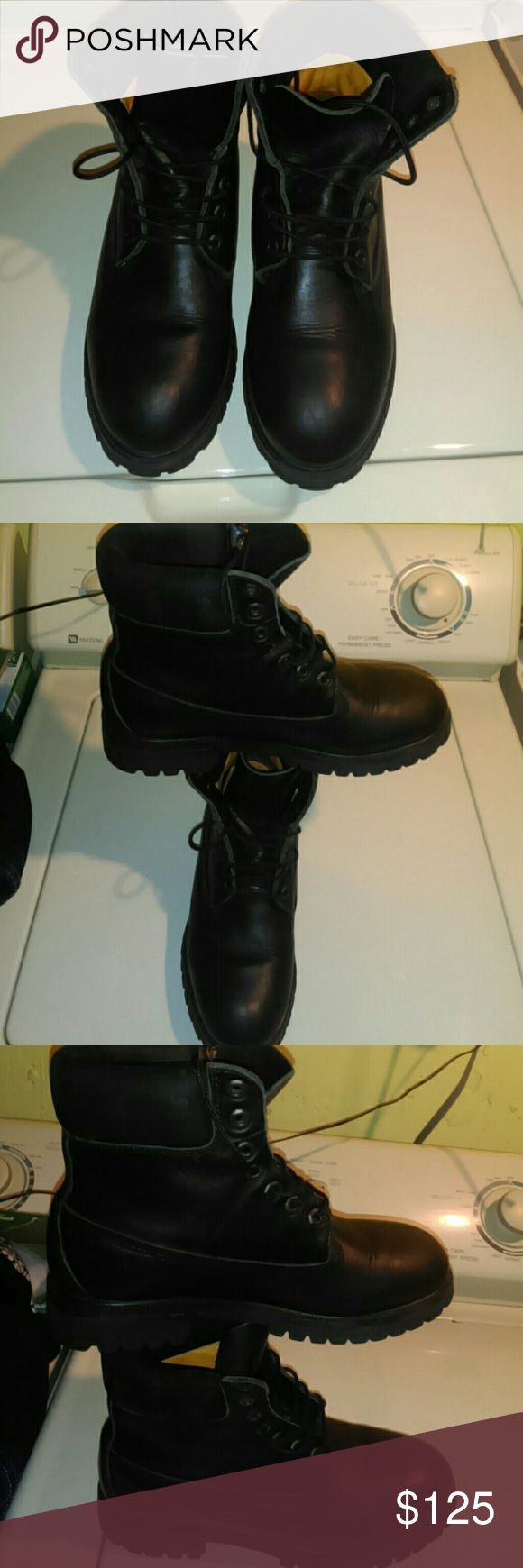 Timberland Boots Men's Gently used...leather....nice.!*.buy!*!* Timberland Shoes Boots