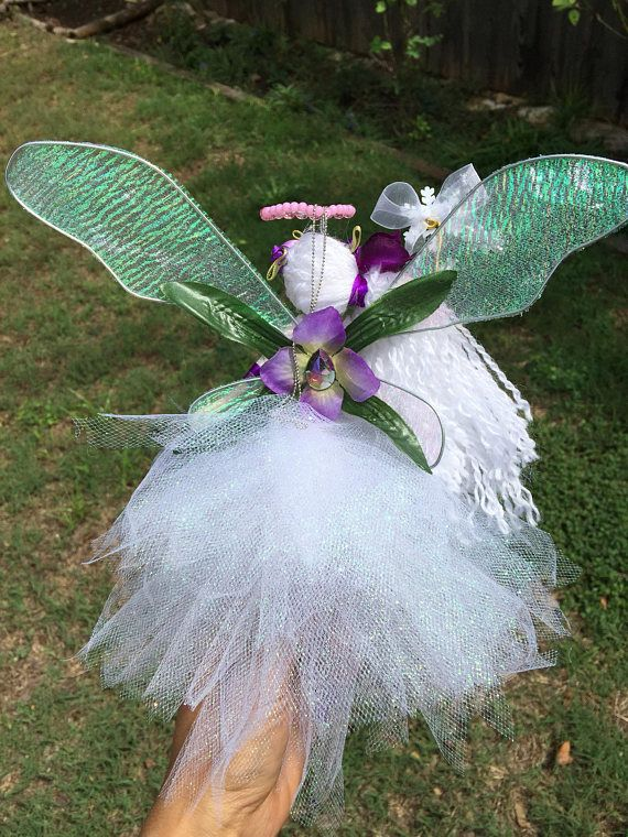 Handcrafted flower fairy doll I made and painted the face manually.. perfect for all occasion Handmade with lots of love... Perfect gift for a birthday... Bridesmaid gift... Christening... Giveaway... A little something just to say thank you... Or just to treat yourself:)