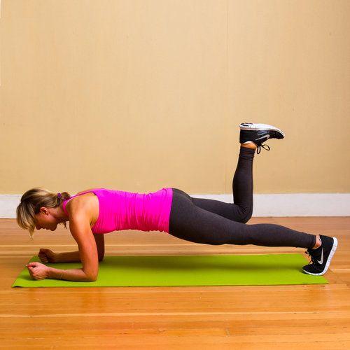 Elbow Plank With Donkey Kick