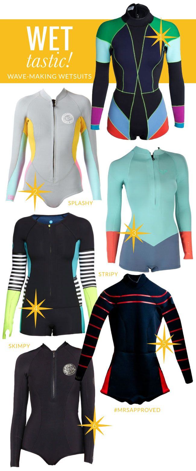WET-tastic!! / Fabulous Wetsuits for the ladies - not sure they'd be regulation but these are cute alternatives!!