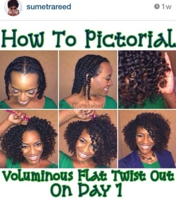 We just love @Sumetra Reed and this gorgeous flat twist out tutorial using Cantu Argan Oil Leave-In!