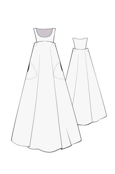 Celestial Dress Pattern Hack #1 free add on, PDF sewing pattern.