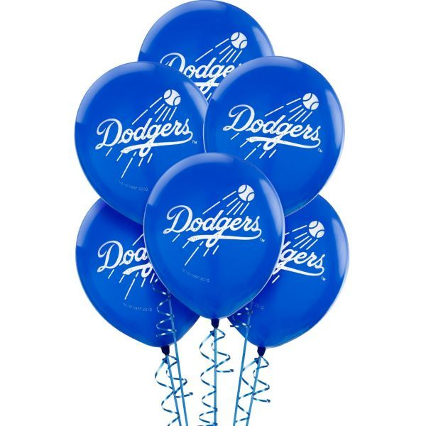 Los angeles dodgers balloons 6ct los angeles products for Balloon decoration los angeles