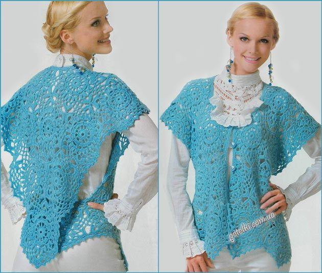 Cardigans, Crochet Blusas