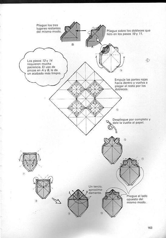 kunihiko kasahara y Toshie Takahama (Papiroflexia) - Origami para expertos 162_page162