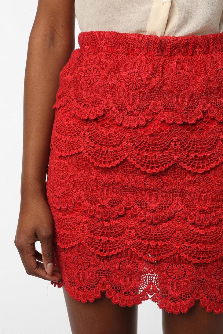 uo crochet skirt. love this. buying this.