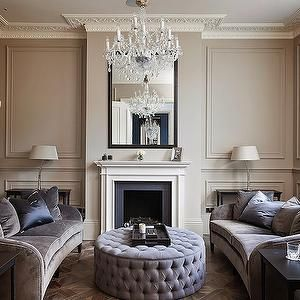 Curved Sofas, Transitional, living room, 1st Option