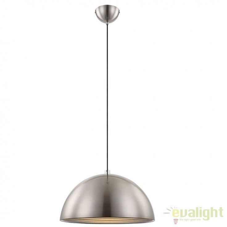 Lustra,Pendul Industrial Style, diam.40cm, finisaj alb, EARTH 15122 GL - Corpuri de iluminat, lustre, aplice