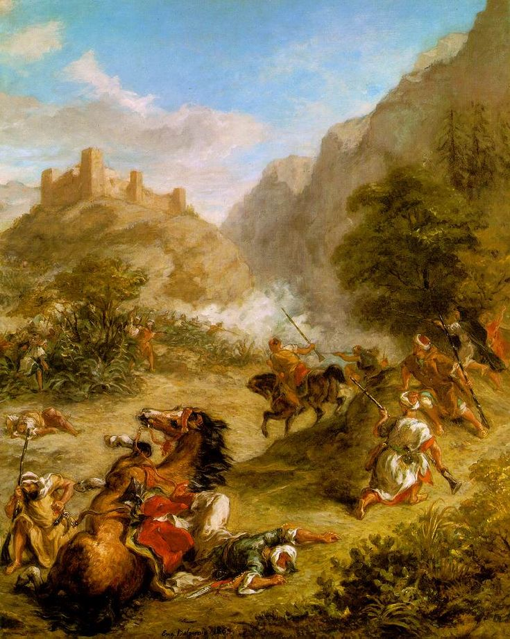 Delacroix - Arabs Skirmishing in the Mountains  - National Gallery of Art -  Washington, D.C.
