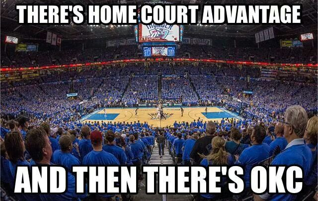 OKC... Thunder says They have the best fans! :)