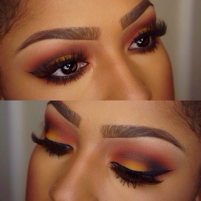 """.@makeupshayla   Sunrise Eyes @Sugarpill Cosmetics Cosmetics """"buttercup cake"""" on the center lid and &qu..."""