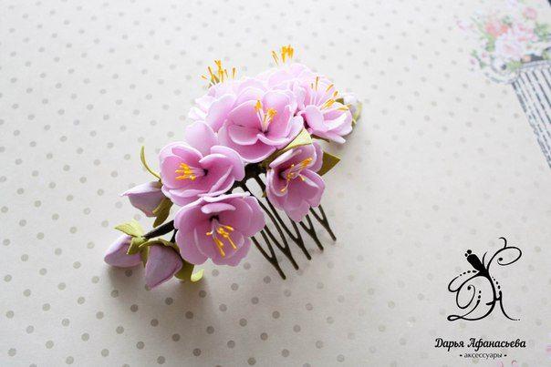 Аксессуары с цветами из фоамирана. | 11 фотографий