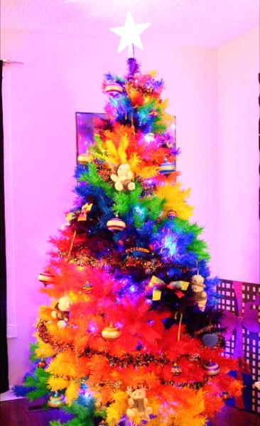 My Rainbow Christmas Tree Angel L Christmas Trees
