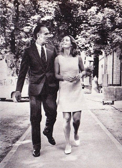 Romy Schneider and Michel Piccoli