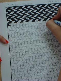 Adventures of a Middle School Art Teacher: 7th Grade ~ OP Art lesson