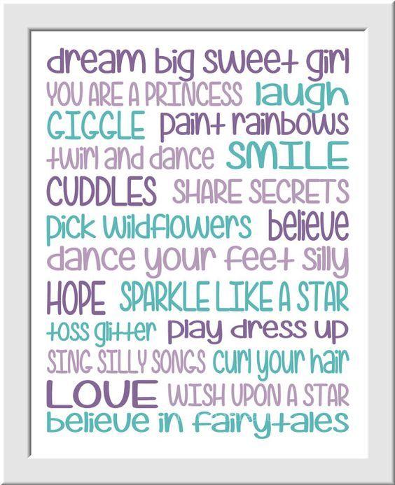Purple Teal Girls Room Prints Baby Girl by DezignerheartDesigns