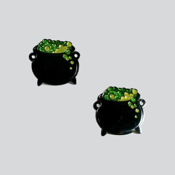 Ketel Glitter glazuur Pin / revers spelden / door WhoAreYouCurlySue