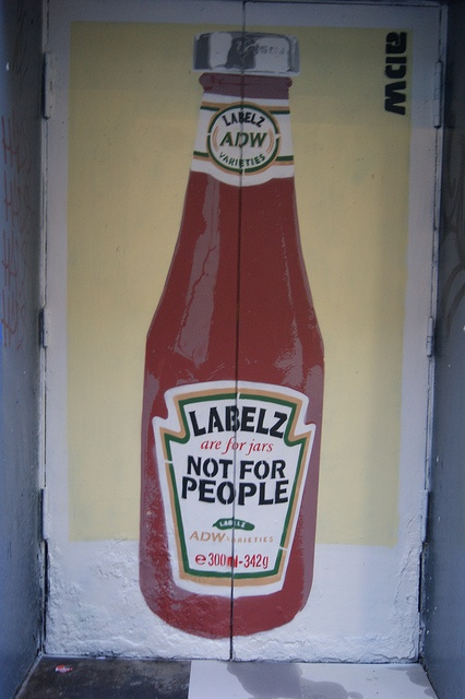 'Labels are for jars, Not for People' - by ADW, Dublin