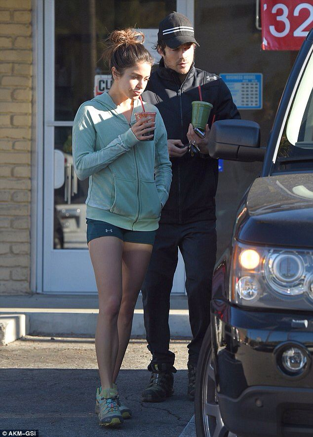 Nikki Reed and Ian Somerhalder grab smoothies after a workout... as her divorce from Paul McDonald is finalised