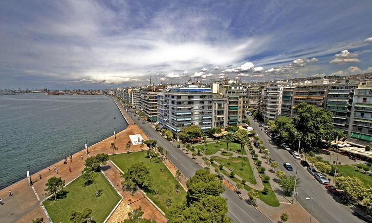 An aerial view of Thessaloniki