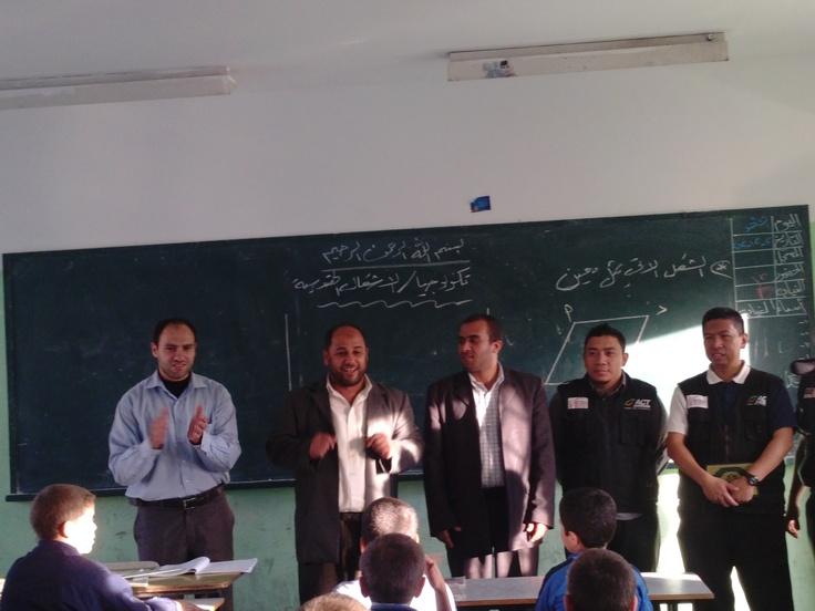 Bantuan ACT (Aksi Cepat Tanggap) untuk sekolah di Gaza.