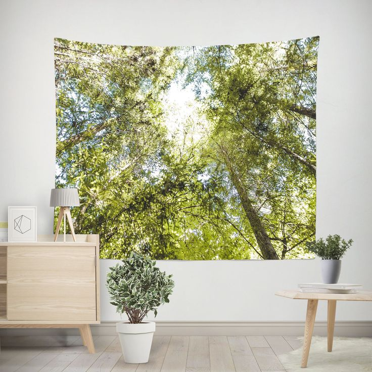 Sequoia Forest Canopy Wall Tapestry