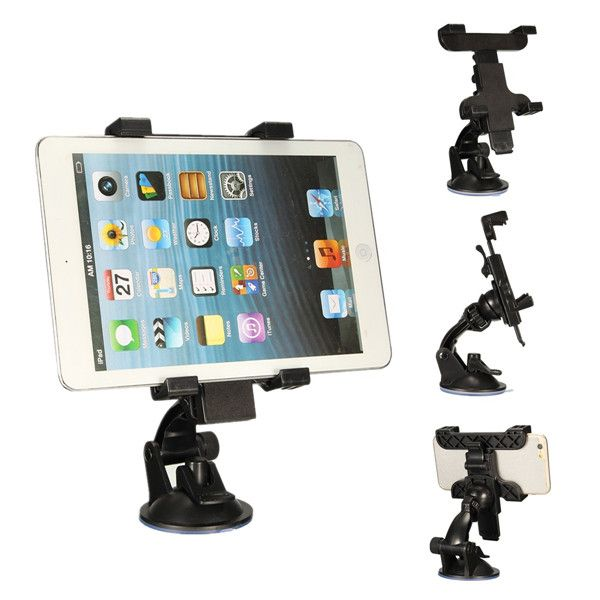 6.5cm-14cm Car Windshield Suction Cup Mount Holder For iPhone 6S Plus iPad Mobile Phone Tablet GPS