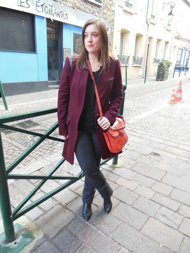 Manteau - IKKS // Blouse & Bottines - Zara // Jeans - H&M // Sac - Coach