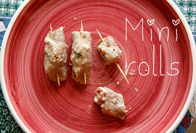 Ham and cheese mini rolls