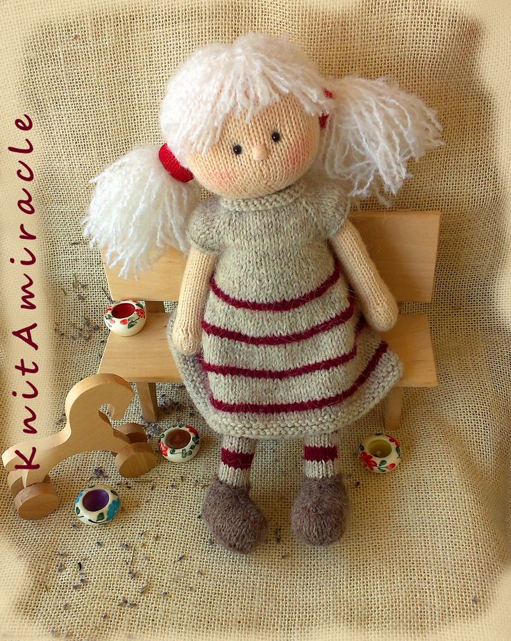 https://www.etsy.com/listing/519150675 #KnitAmiracle #knitting #knitted dolls #knitted toys #knit toys #DIY knitted doll #dol making #toys knitting patterns #knitting pattern