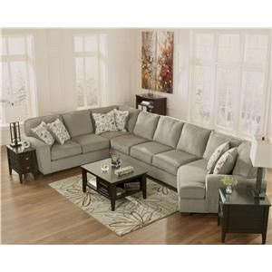 ashley furniture patola park patina 4piece small sectional with left cuddler - Ashley Furniture Sectional Sofas