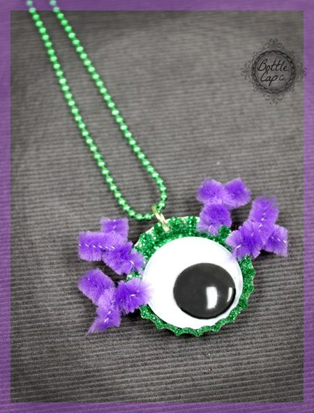 29 best images about halloween crafts on pinterest for Bottle cap craft ideas for kids