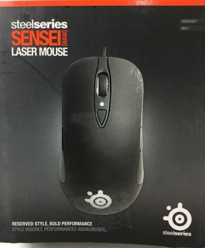 1c88eee9991 SteelSeries Sensei Raw Rubberized Laser Gaming Mouse Black M-00001 ...