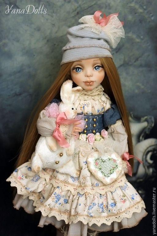 Купить Кэтти - кремовый, кукла ручной работы, кукла интерьерная, девочка, кролик