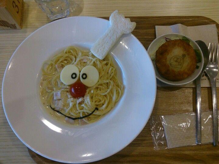 Doraemon cafe in Fujio.F. Fujiko Museum, Kawasaki, Japan