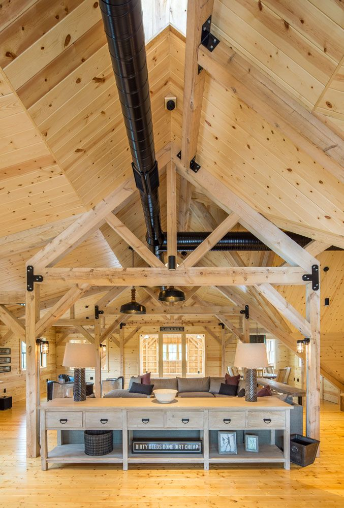 Post Frame Building With Living Quarters