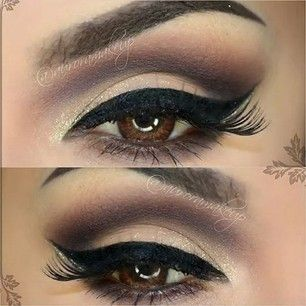 Try this look with Sandstone Pearl ShadowSense, and create depth with a blend of Amethyst and Onyx ShadowSense. Line with Black EyeSense for the perfect wing-tip that lasts.