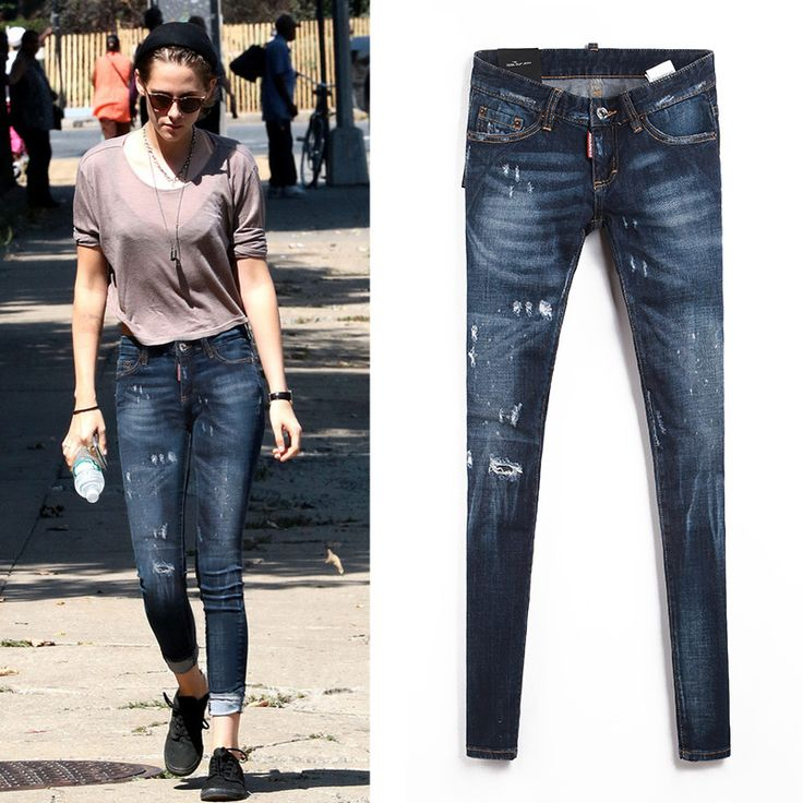 Find More Jeans Information about 2016 European Style Women Skinny Ripped Jeans Bleached Fashion Hole Female Jeans Painted Dot  High Quality SKU831918,High Quality jean jacket and jeans,China jeans 25 Suppliers, Cheap jeans 46 from HongKong Goods LTD-Smarter Shopping Better living ! on Aliexpress.com