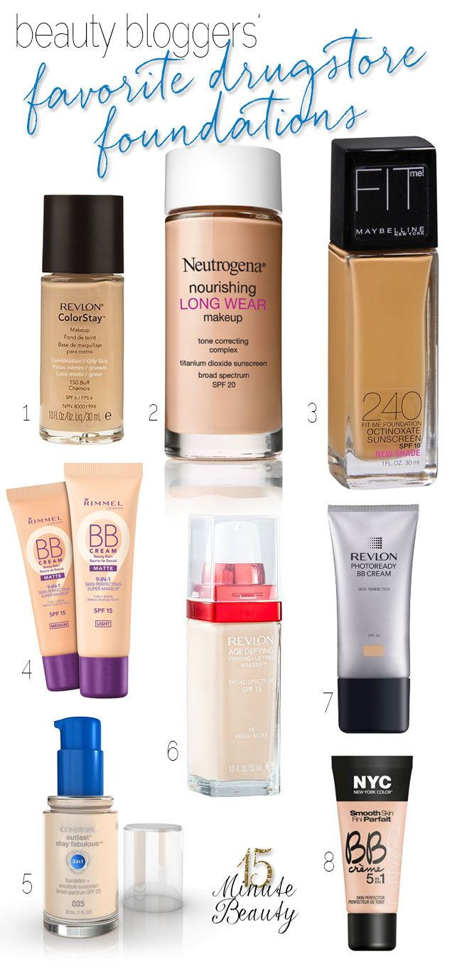 Beauty Bloggers and Their Favorite Drugstore Foundations - Gotta agree with Revlon, I feel it's as good as any high end with the coverage but I wear CC cream for everyday coverage, rarely use actual foundation
