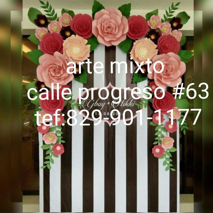 Curso taller de flores de papel ,su eres maestro de básica o inicial esta es tu oportunidad de aprender a crear tus propias flores escríbenos 829-901-1177 Wasap