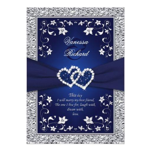 Silver Wedding Invitations Pinterest: Best 25+ Navy Silver Wedding Ideas On Pinterest