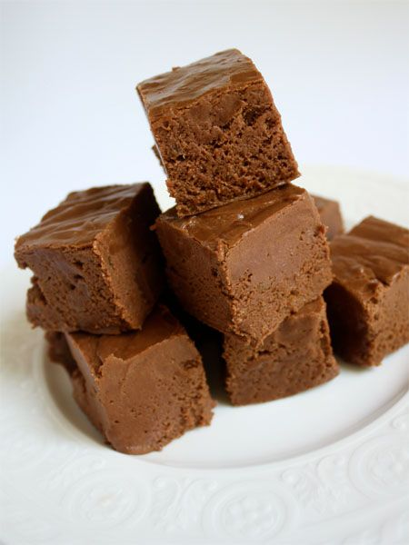 Homemade Fudge - 6 ingredients! (7 if you're NUTS) :)
