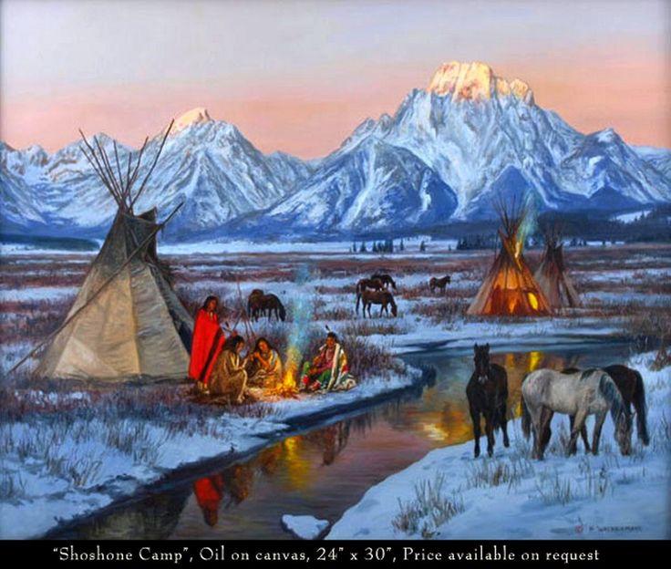 native american paintings Hubert Wackermann |༺ ♠ ༻*ŦƶȠ*༺ ♠ ༻
