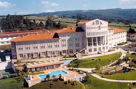 Vista aerea del hotel Los Abetos en A Coruña