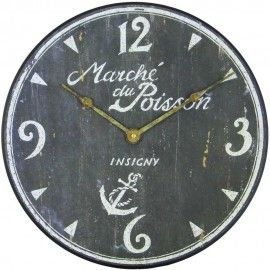 French Fish Market Wall Clock 36cm