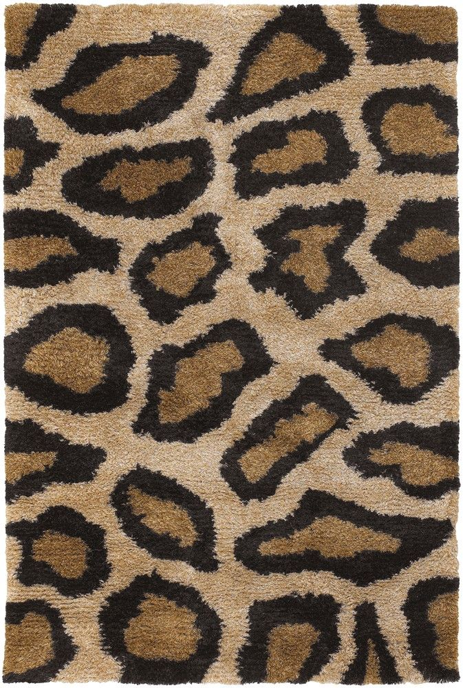 Kitchen Rug Chandra Rugs Amazon Collection AMA Beige Leopard Area Rug Hand woven Contemporary