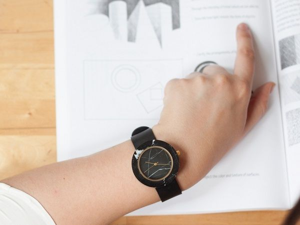 An Elegant, Minimalist Watch That Is Made With Real Marble - DesignTAXI.com