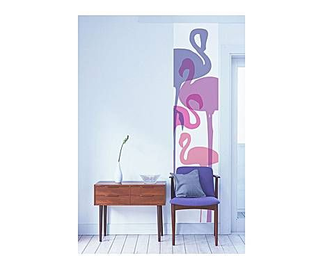 DUDECOR WALLSTICKERS: carta da parati in pvc adesivo flamingos - 270x45 cm