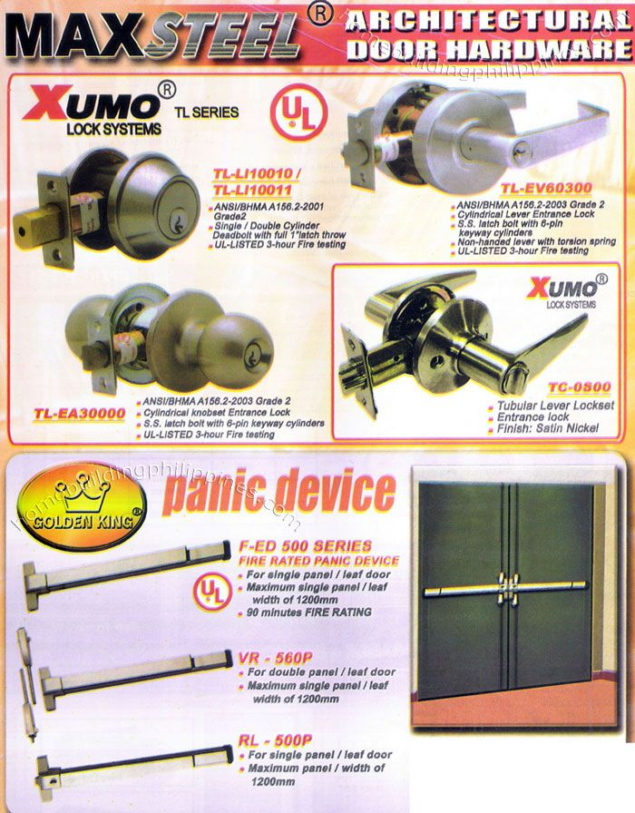 http://www.homebuildingphilippines.com/diatech_success_group/08_maxsteel_architectural_door_hardware_xumo_lock_systems_golden_king_fire_rated_panic_device.html
